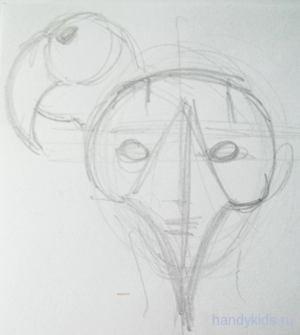 Придумаем маску попугая