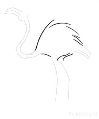 Как рисовать фламинго