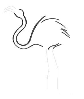 Урок рисования фламинго
