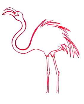Рисунок фламинго -13