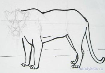 Урок рисования  ягуара