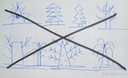 Как НЕ надо рисовать дерево