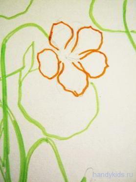 Рисуем красивый цветок