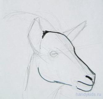 Рисуем козу