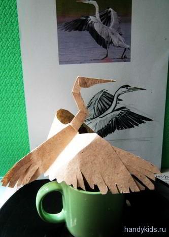 Модель птицы из бумаги
