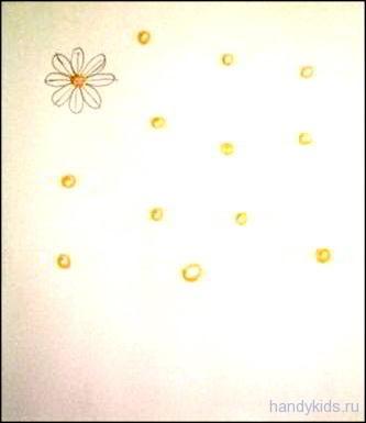 раскраска с дорисовыванием Букет