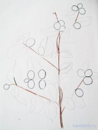 Как рисовать ветку