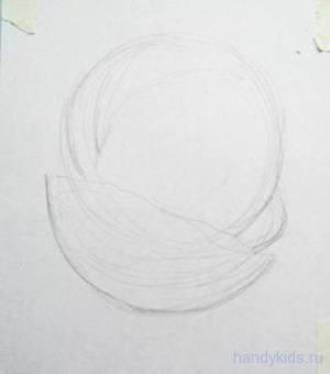 рисуем арбуз карандашом
