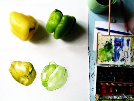 Как нарисовать перец