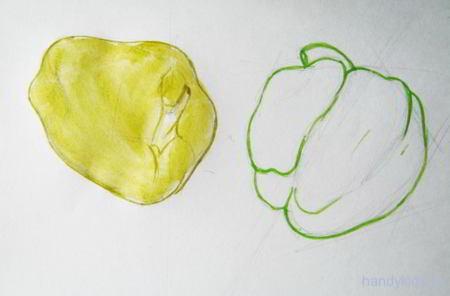 Как нарисовать перцы