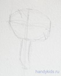 Рисуем гриб поэтапно