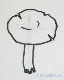 Сыроежка рисунок