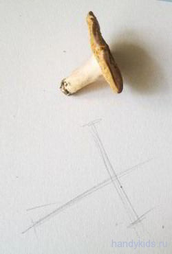 Рисуем сыроежку