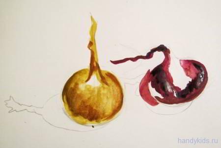 Поэтапный урок рисования лука