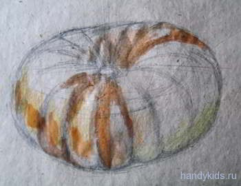 Как рисовать тыкву