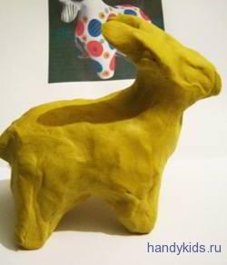Как слепить козла из пластилина