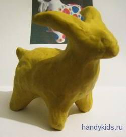 Лепка:дымковский козёл