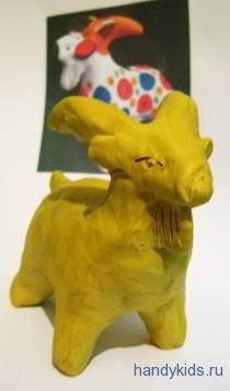 Урок лепки:дымковский козёл