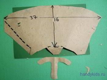 Выкройка носа для маски козы