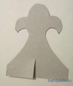 Выкройка детали короны из бумаги
