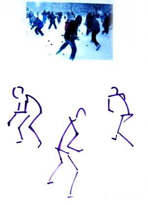 Рисуем игру в снежки