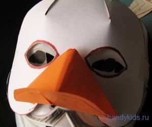 Как сделать клюв утки из бумаги