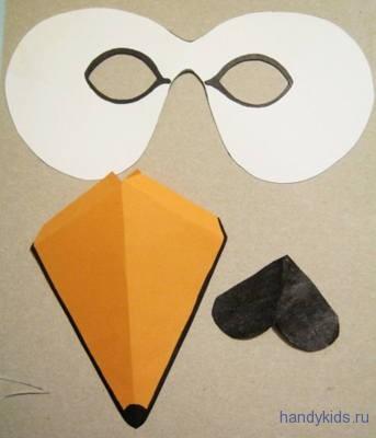 Выкройка маски лебедя
