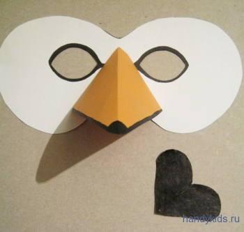 Как сделать маску лебедя.