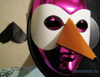 Примеряем маску лебедя
