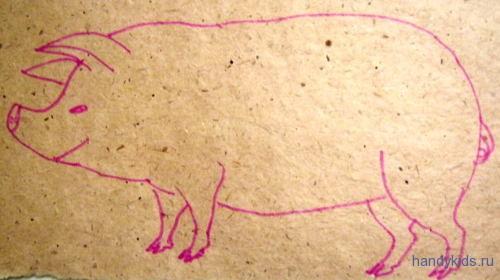 Раскраска Свинья