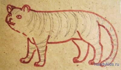 Нарисуем полосы на тигре