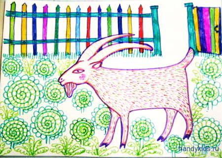 """Лубок """"Пусти козла в огород"""""""