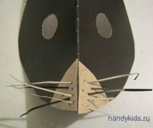 Сделаем усы для маски крота