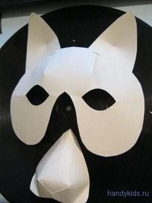 Этапы изготовления маски кота