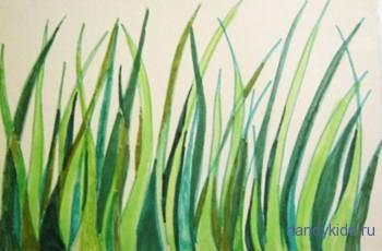 Раскрасим раскраску трава