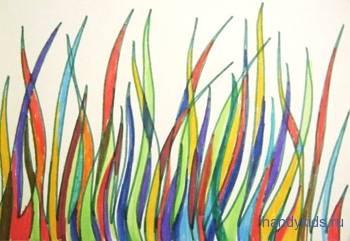 Раскраска трава