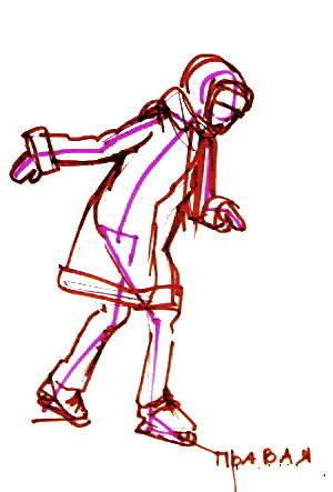 Рисунок -девочка катается на коньках 1