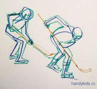 Как нарисовать игру в хоккей