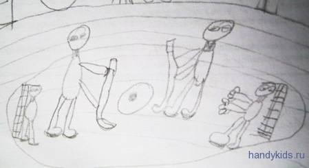 Детский рисунок Хоккей