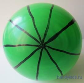 Воздушный шар с полосами