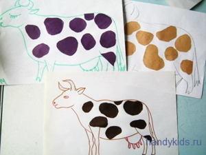 Аппликация -пятна на корове