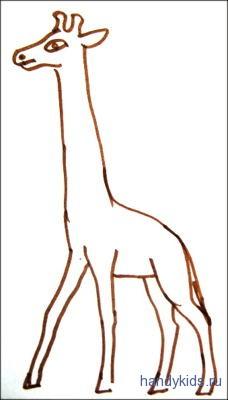 Раскраска  жирафик