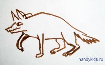 Раскраска гиена