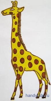 Рисунок жираф