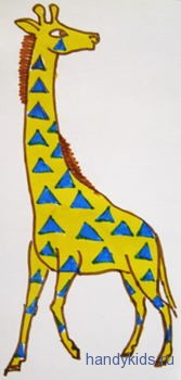 Жираф рисунок