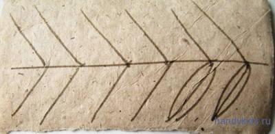Узор лист рябины