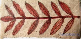 Рисунок-лист рябины