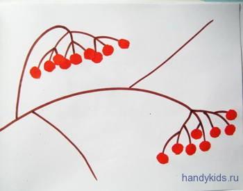 Вырежем и приклеим ягоды