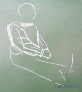 Как нарисовать  ребёнка в зимней одежде