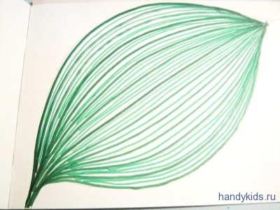 Штриховка-обводилка лист.